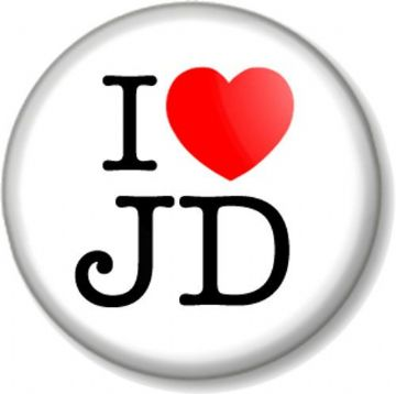 I Love / Heart JD Pinback Button Badge drink alcohol booze jack daniel's whiskey spirit